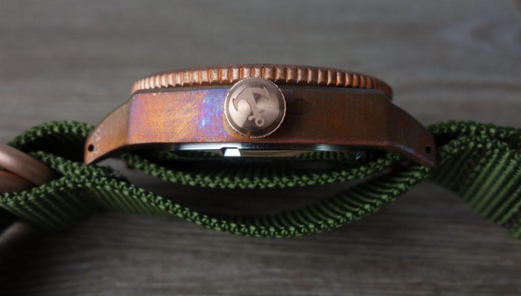 Bronze Uhr Patina Gehäuse