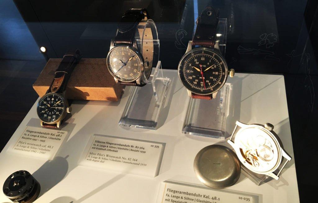 Fliegerarmband Uhren WW2 Glashütte Lange