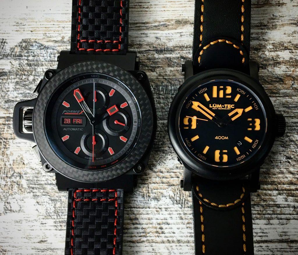 Formex vs. LÜM-TEC Vergleich 46 mm vs. 42 mm Durchmesser Uhr
