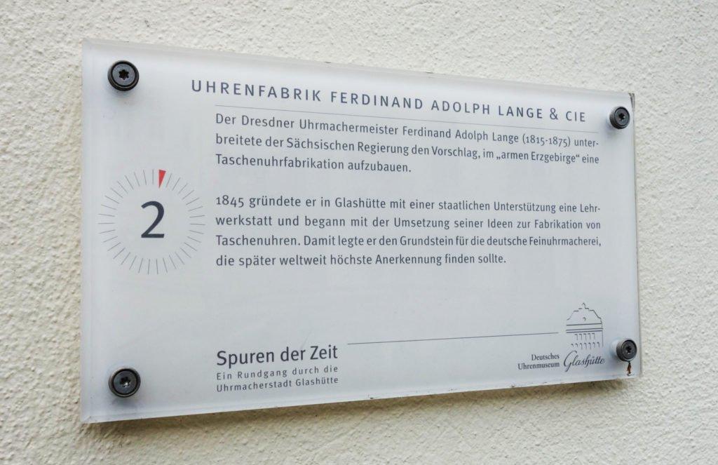Glashütte Ferdinand Adolph Lange Gründung