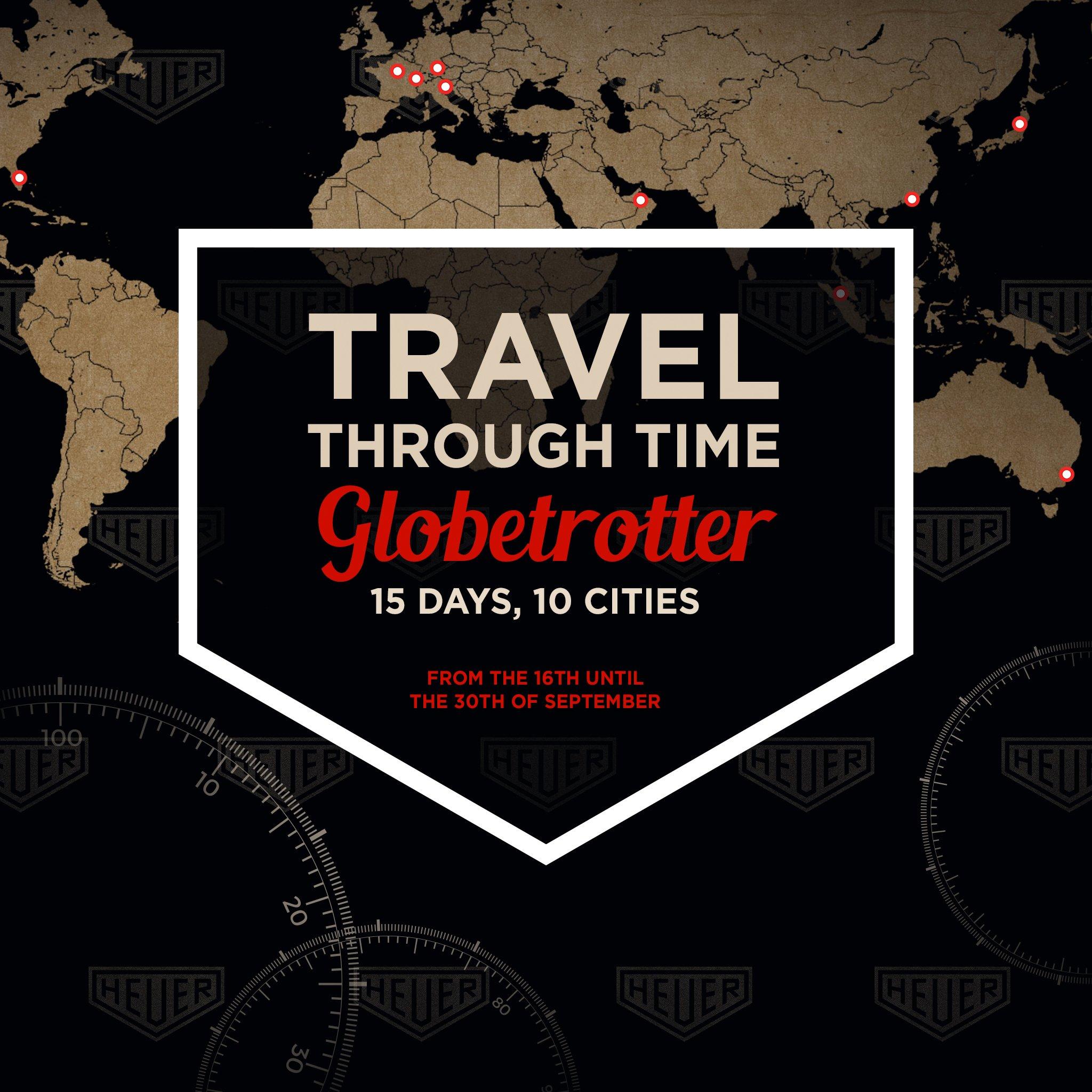 News: TAG Heuer Globetrotter Ausstellung (September 2017) in München und 9 weiteren Städten weltweit