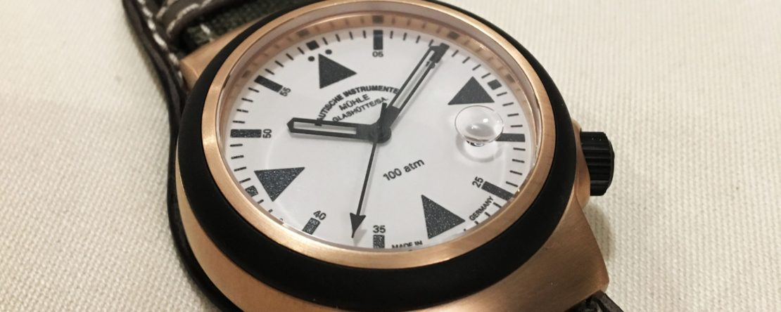 Mühle-Glashütte Bronze SAR Rescue Timer Unterlagenband