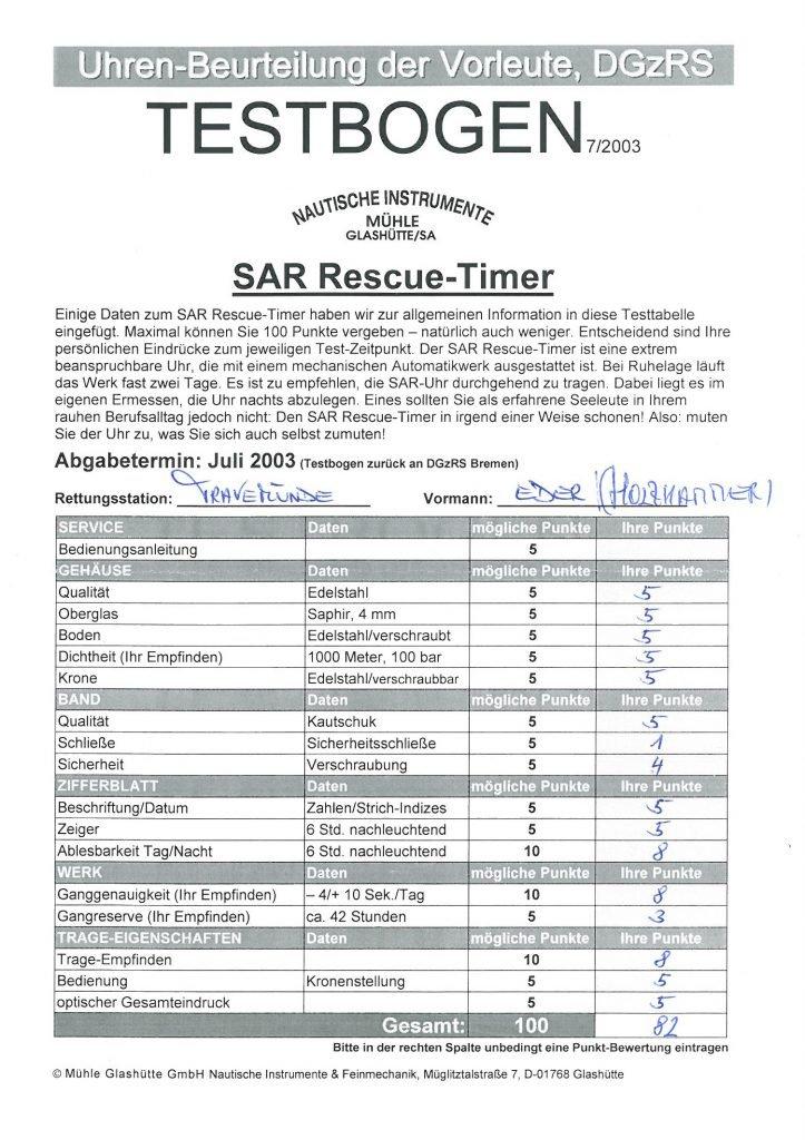 SAR Rescue-Timer Testbogen_Eder