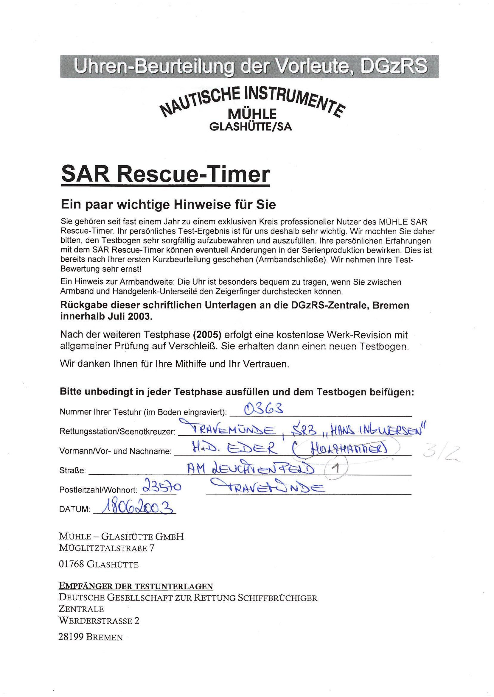 SAR Rescue-Timer Testbogen_Eder_Anleitung