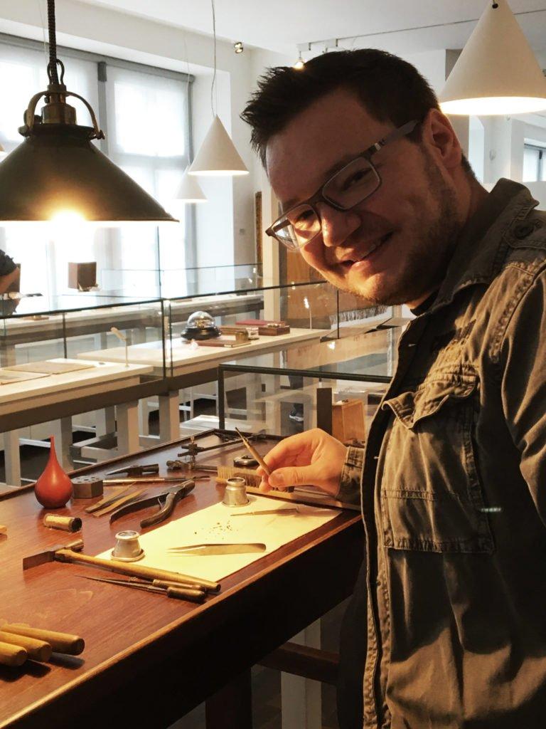 Uhrmacher Werkzeugtisch Glashütte
