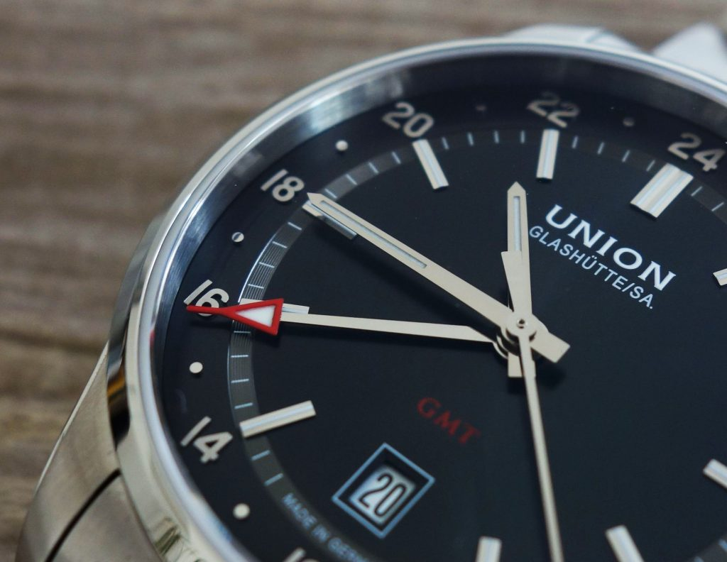 Union Glashütte GMT Applizierte Ziffern
