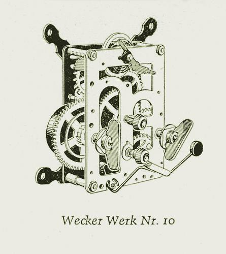 1890 Wecker Kaliber 10 Junghans