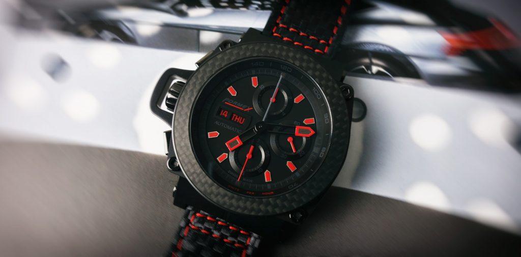 Black Carbon Chronograph Racing