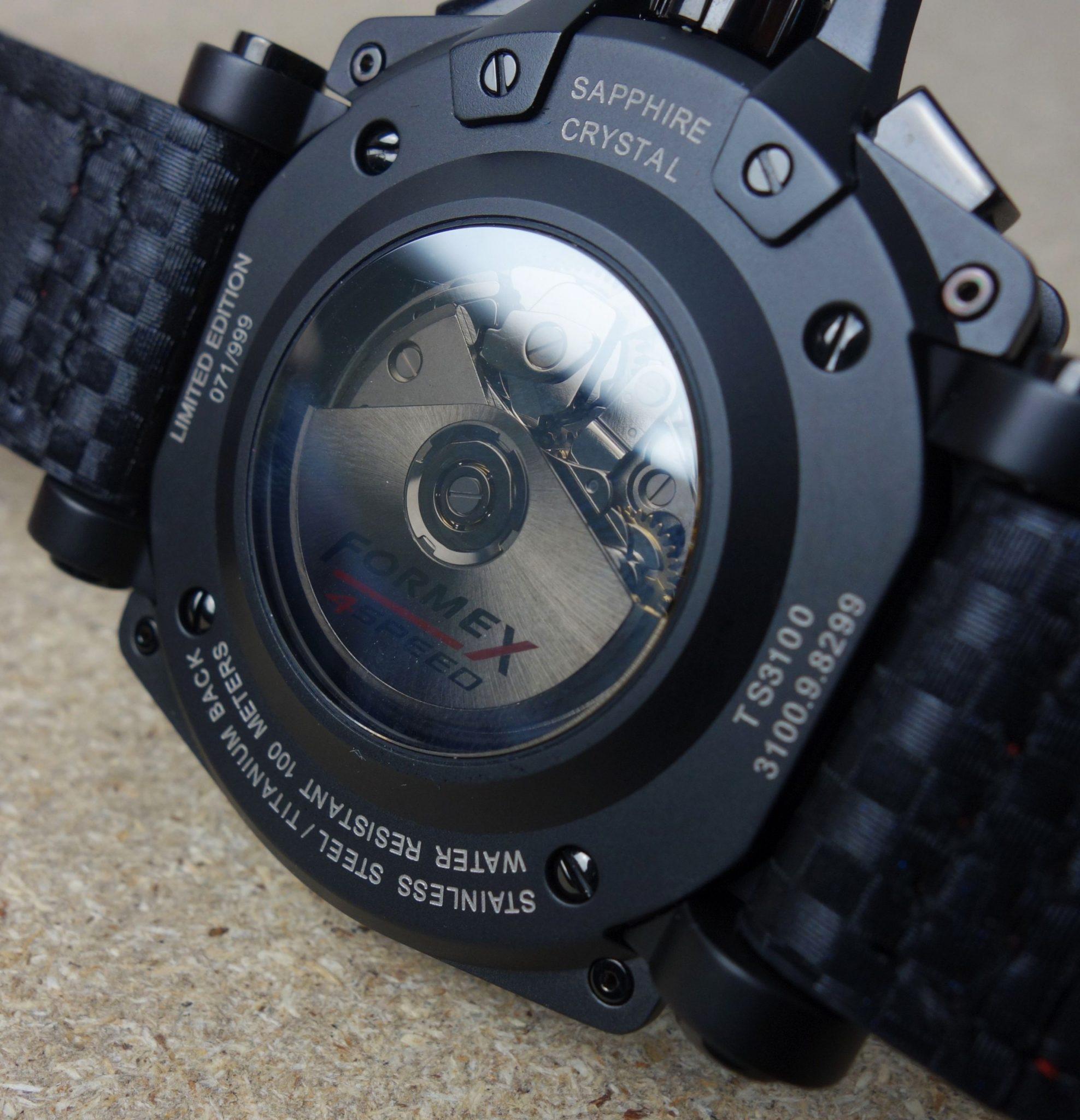 ETA 7750 schwarz Formex Chrono Glasboden