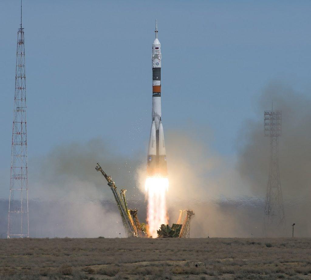 Soyuz MS-04 Rocket Raketenstart