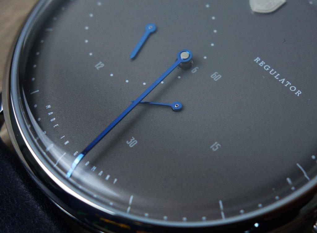Gebläute Zeiger Bauhaus Regulator Deutsche Uhrenfabrik Dufa