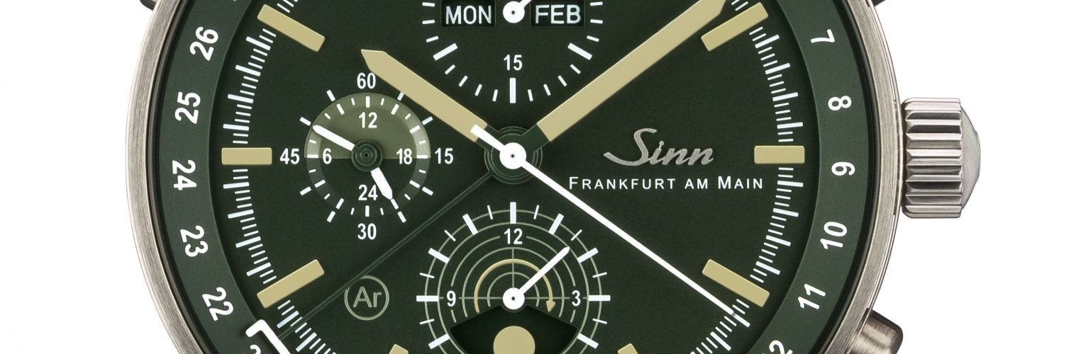 sinn jagduhr 3006 chronograph mit mondlicht anzeige chrononautix. Black Bedroom Furniture Sets. Home Design Ideas