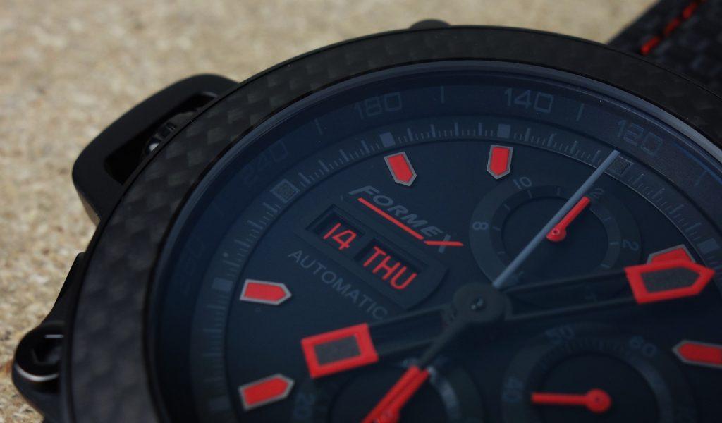 Sportlicher Carbon Chronograph