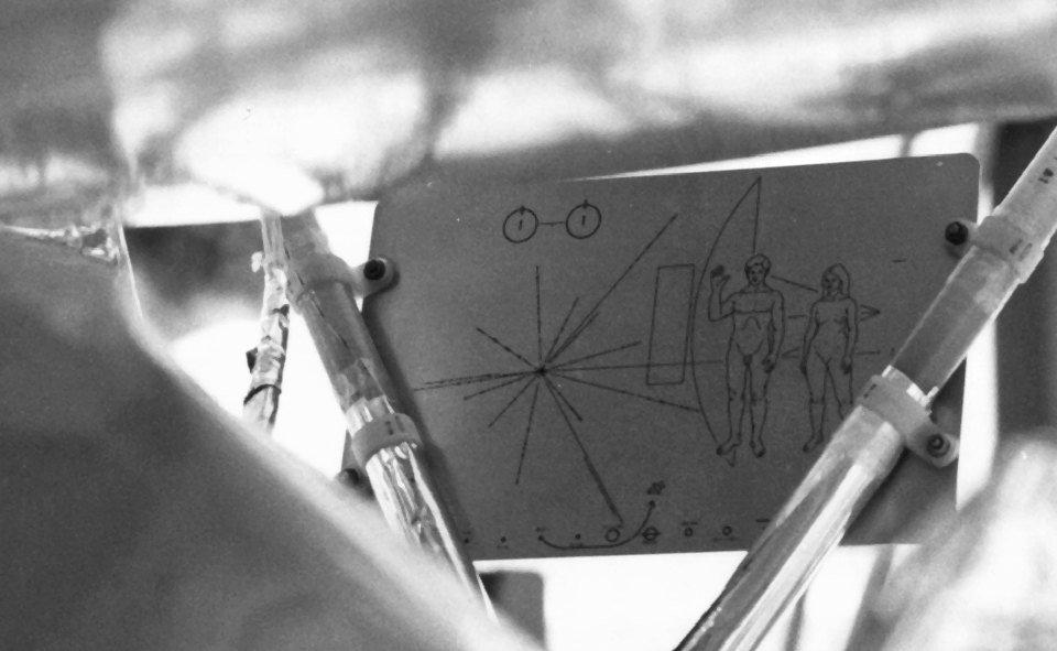 Voyager Pioneer 10 11 Aluminium Platte Außerirdische