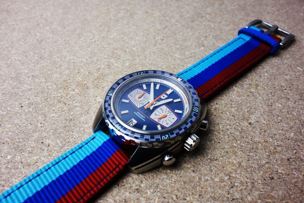 Rallye Streifen Textilband Uhr
