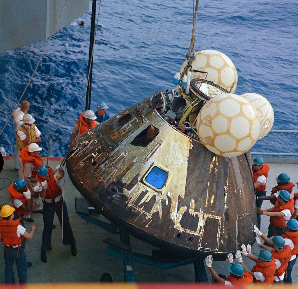 Apollo 13 Kapsel Landung