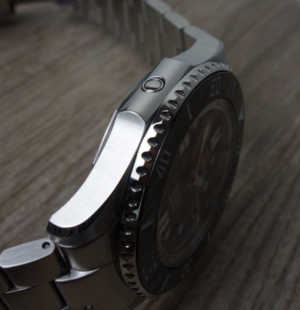 Heliumventil Taucher Uhr Marc & Sons Rolex Hommage