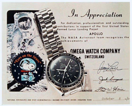 Omega Watch COmpany Speedmaster Snoopy Award NASA