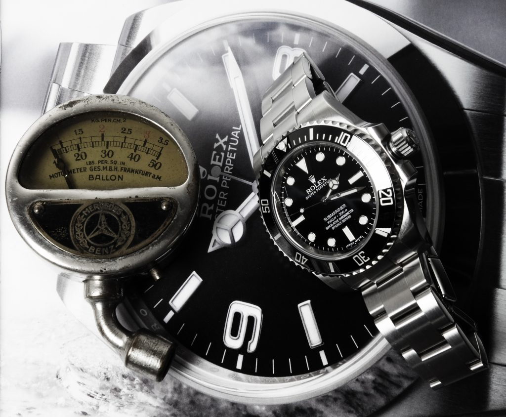 Rolex Mercedes Stunden-Zeiger