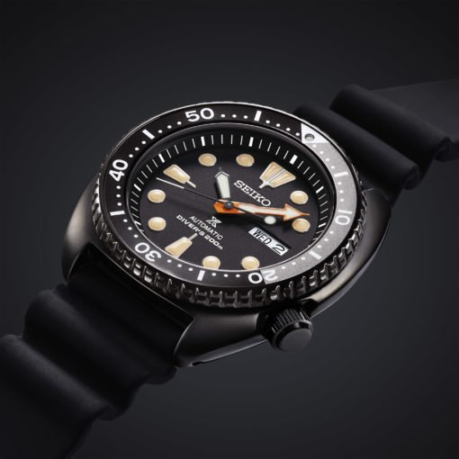 Seiko Turtle Black Series Schwarz