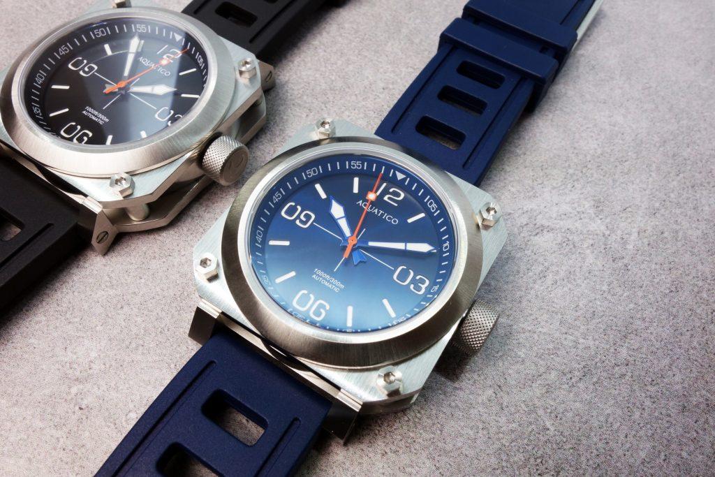 Aquatico Uhr blau schwarz PIlot Taucher Vergleich