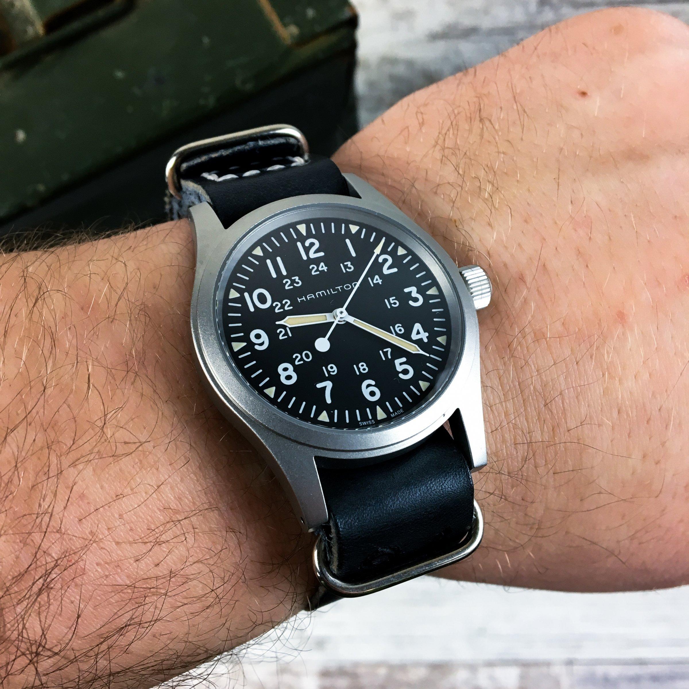 Greenpilot Watchstraps Leder Nato Band Hamilton