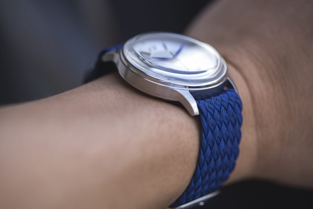 HORAE 4 Automatic with Blue Perlon Strap 3