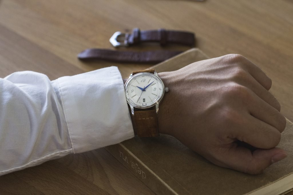 HORAE 4 Automatic with Brown Suede Leather Strap
