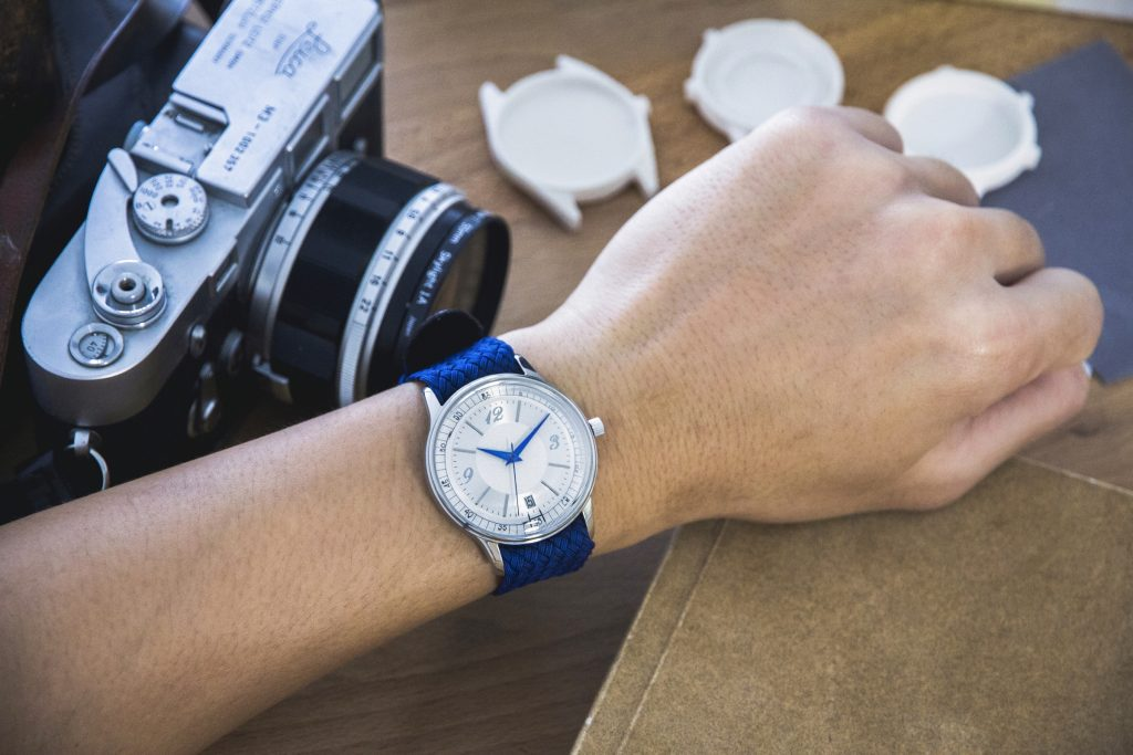 HORAE Automatic with Blue Perlon Strap 1
