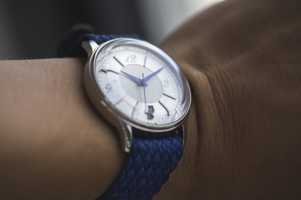 HORAE Automatic with Blue Perlon Strap 2