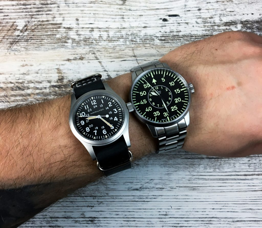 Hamilton 38 mm vs. Laco 42 mm