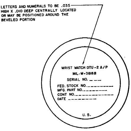 MIL-W-3818B Gehäuseboden