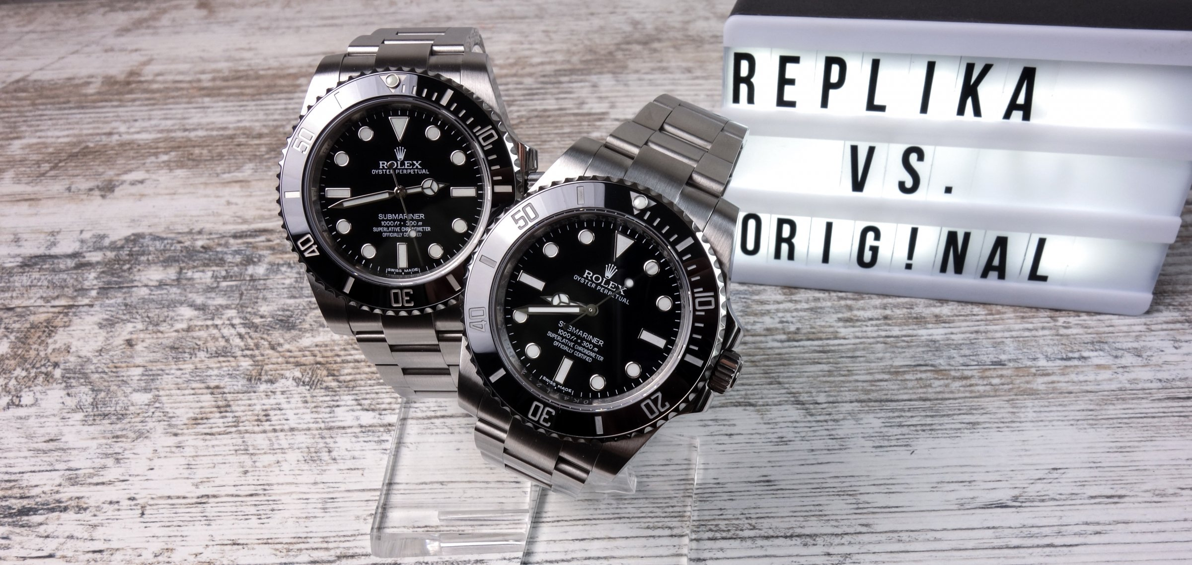 Rolex Submariner 114060 No-Date Original vs. Replica Noob v7