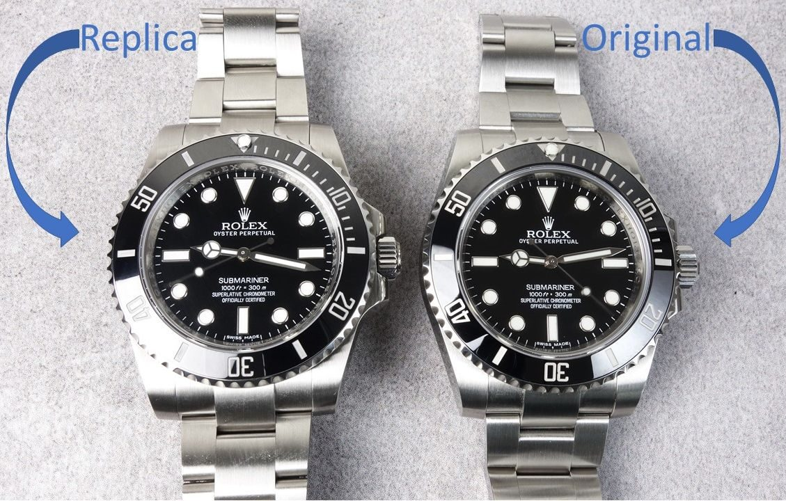 Rolex Submariner No-Date Original vs. Replica Noob v7