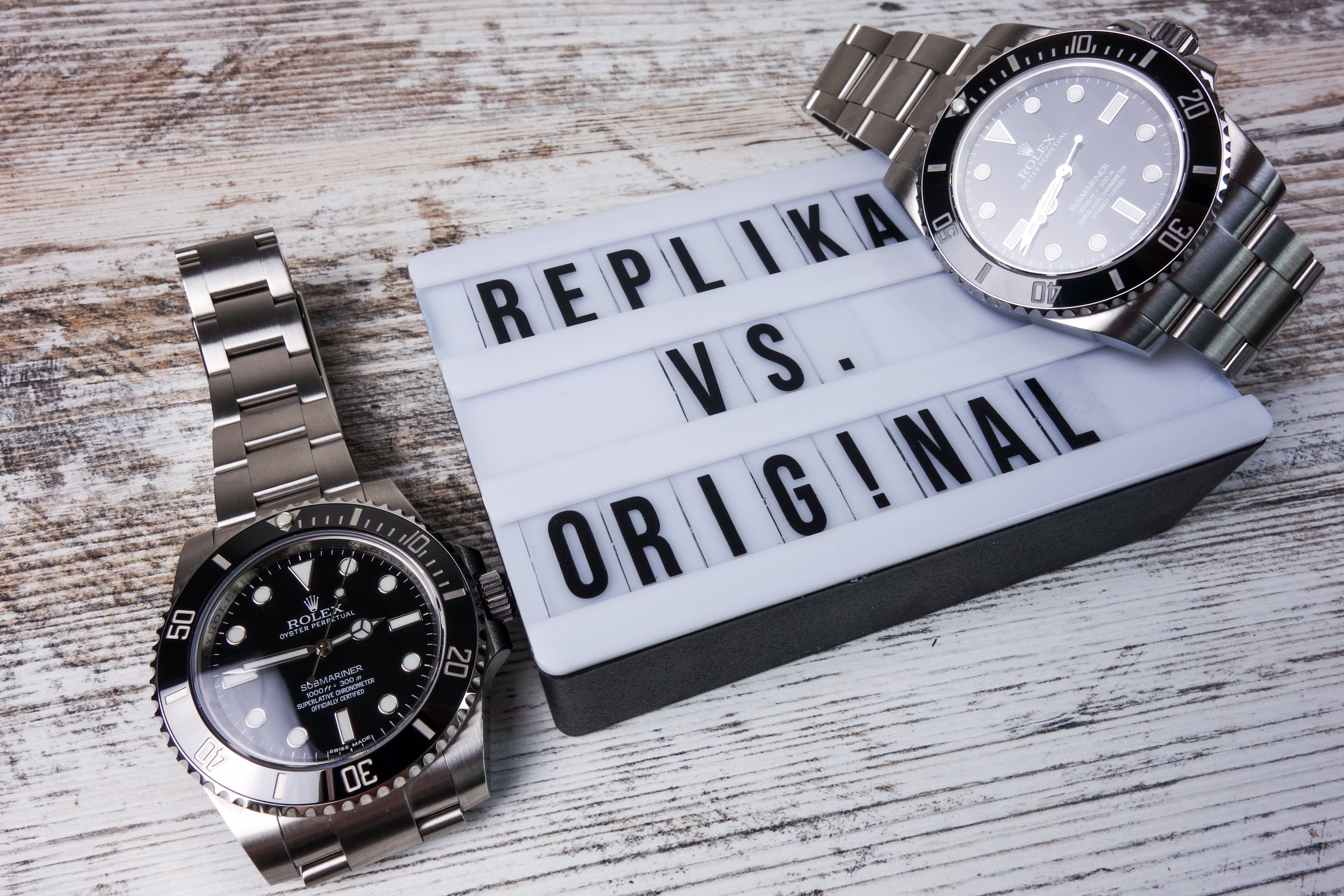Rolex Submariner Original vs. Replica Noob v7