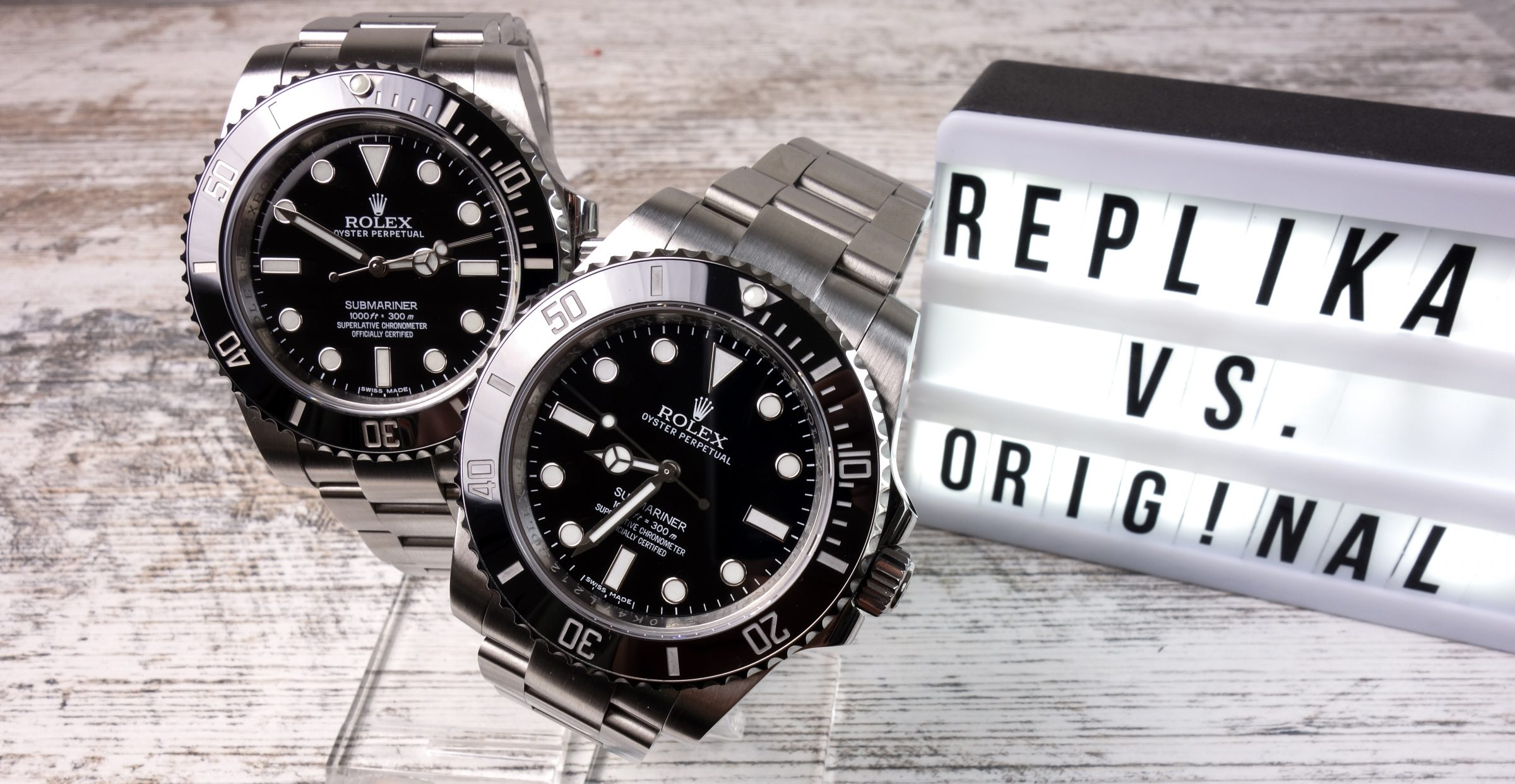 Rolex Submariner Original vs. Replica