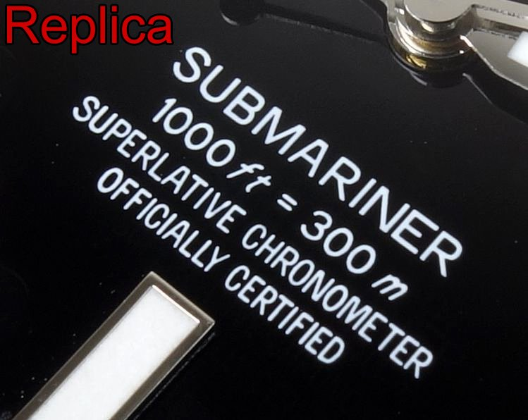 Submariner Schriftzug 1000 ft 300 m Replica