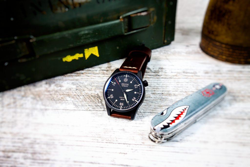 Aevig Corvid Bauhaus Field Watch