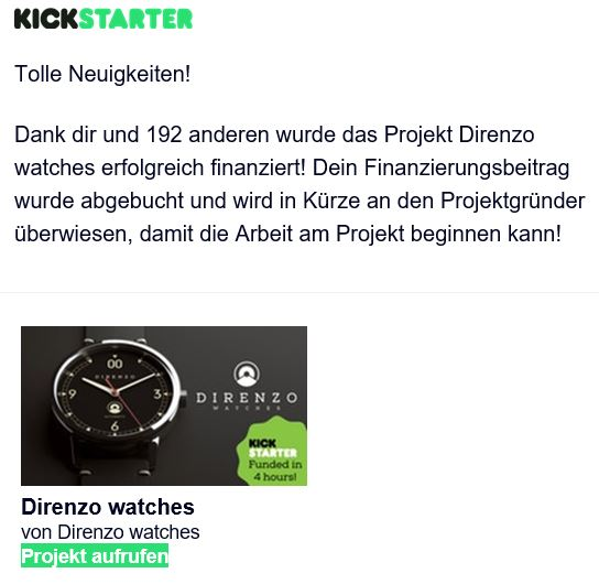 Direnzo Kickstarter
