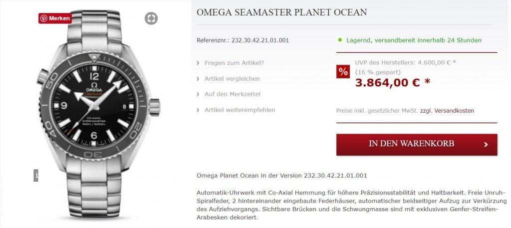 Omega Seamaster Planet Ocean 2013