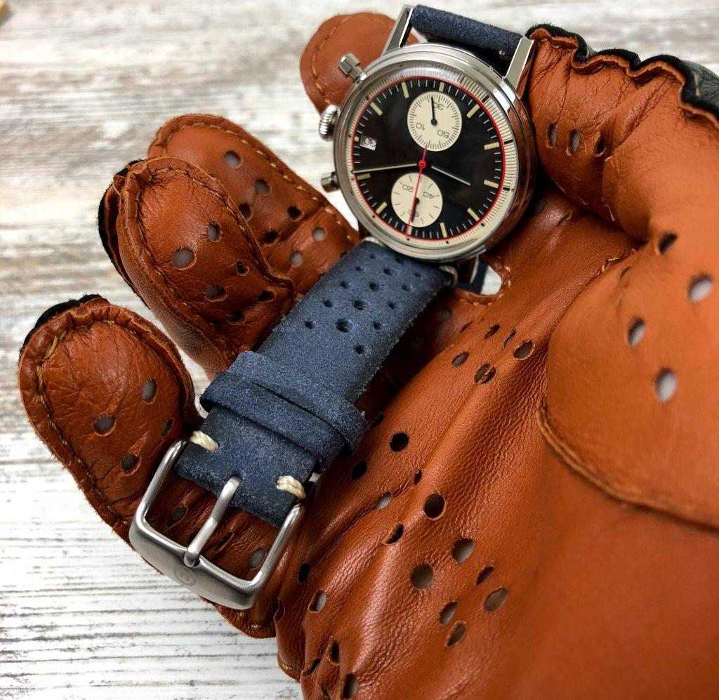 Perforiertes Lederband Uhr-2