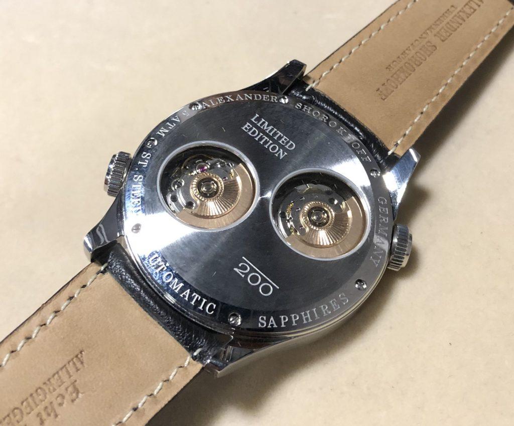 Zwei Automatikwerke in einer Uhr