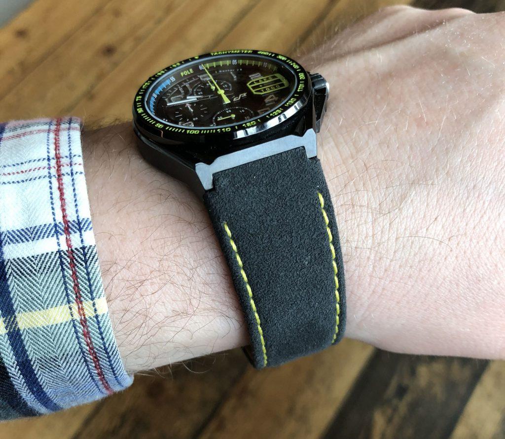 Alcantra Lederband Uhr