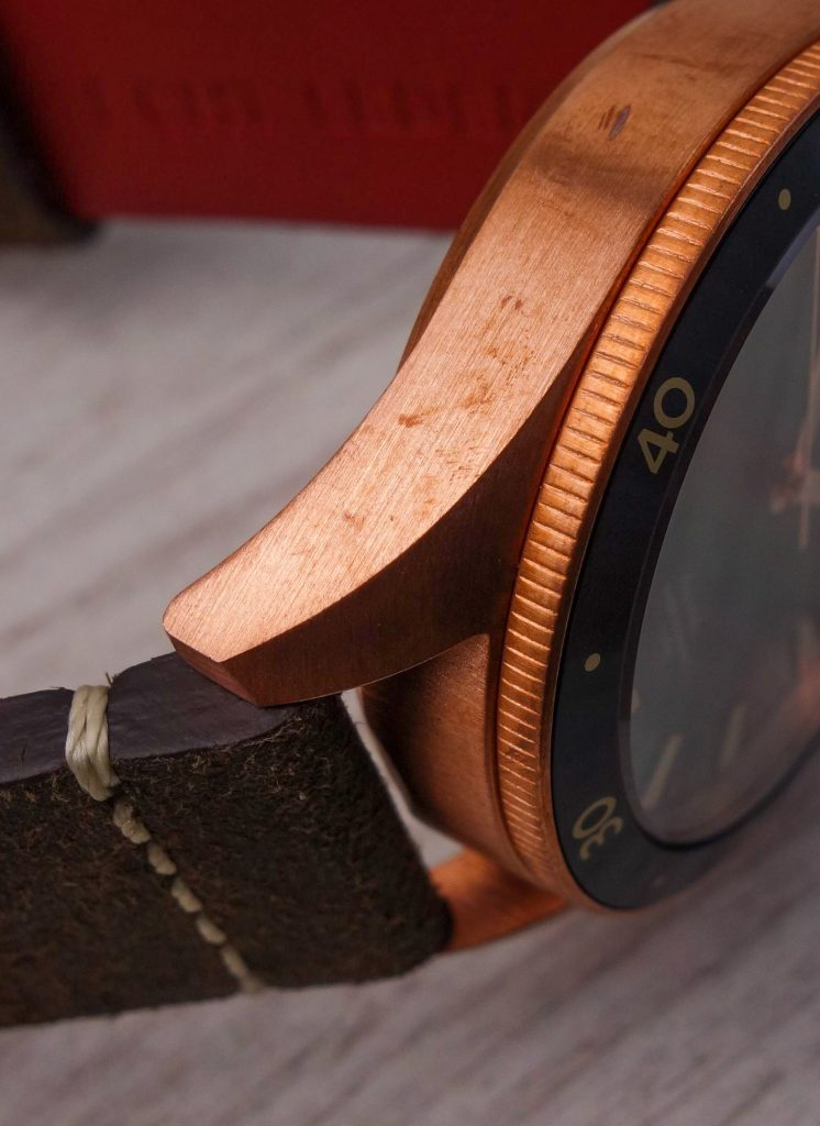 Bronzegehäuse Uhr Patina