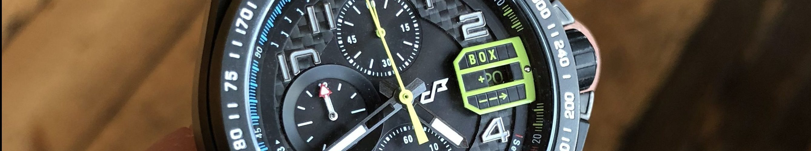 Carbon-Ziffernblatt Uhr Chrono Formel 1
