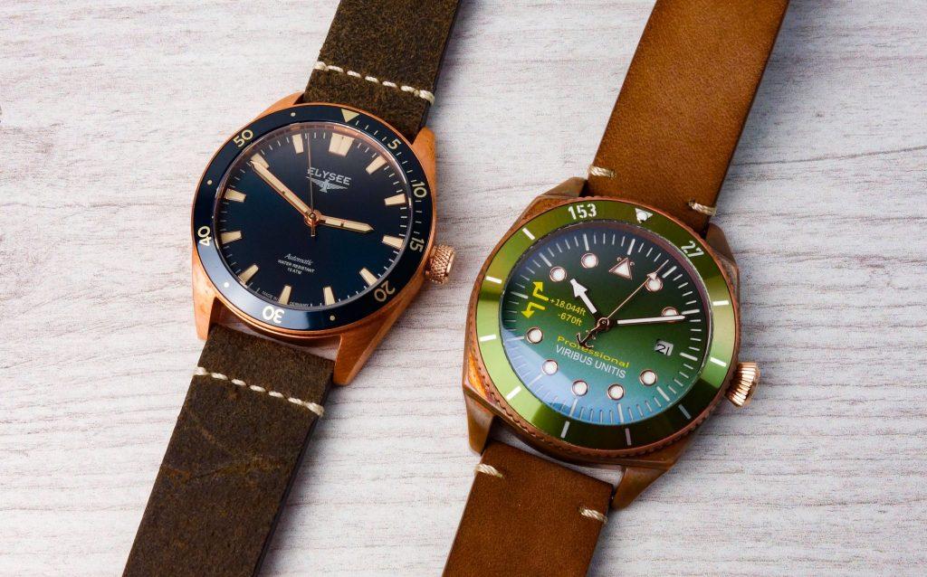 ELYSEE vs. Viribus Unitis Bronze Uhr Automatik
