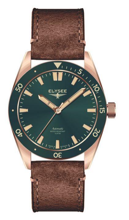 Elysee Bronze Automatik grün