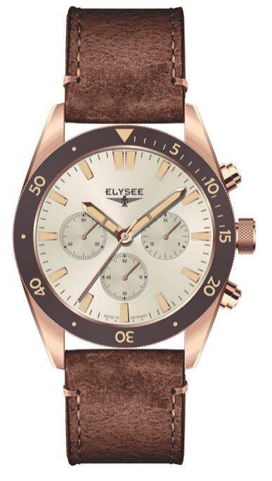 Elysee Bronze Chronograph Creme