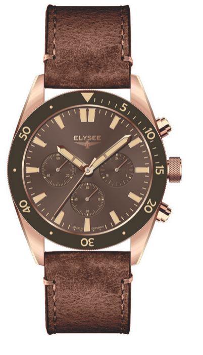 Elysee Bronze Chronograph braun