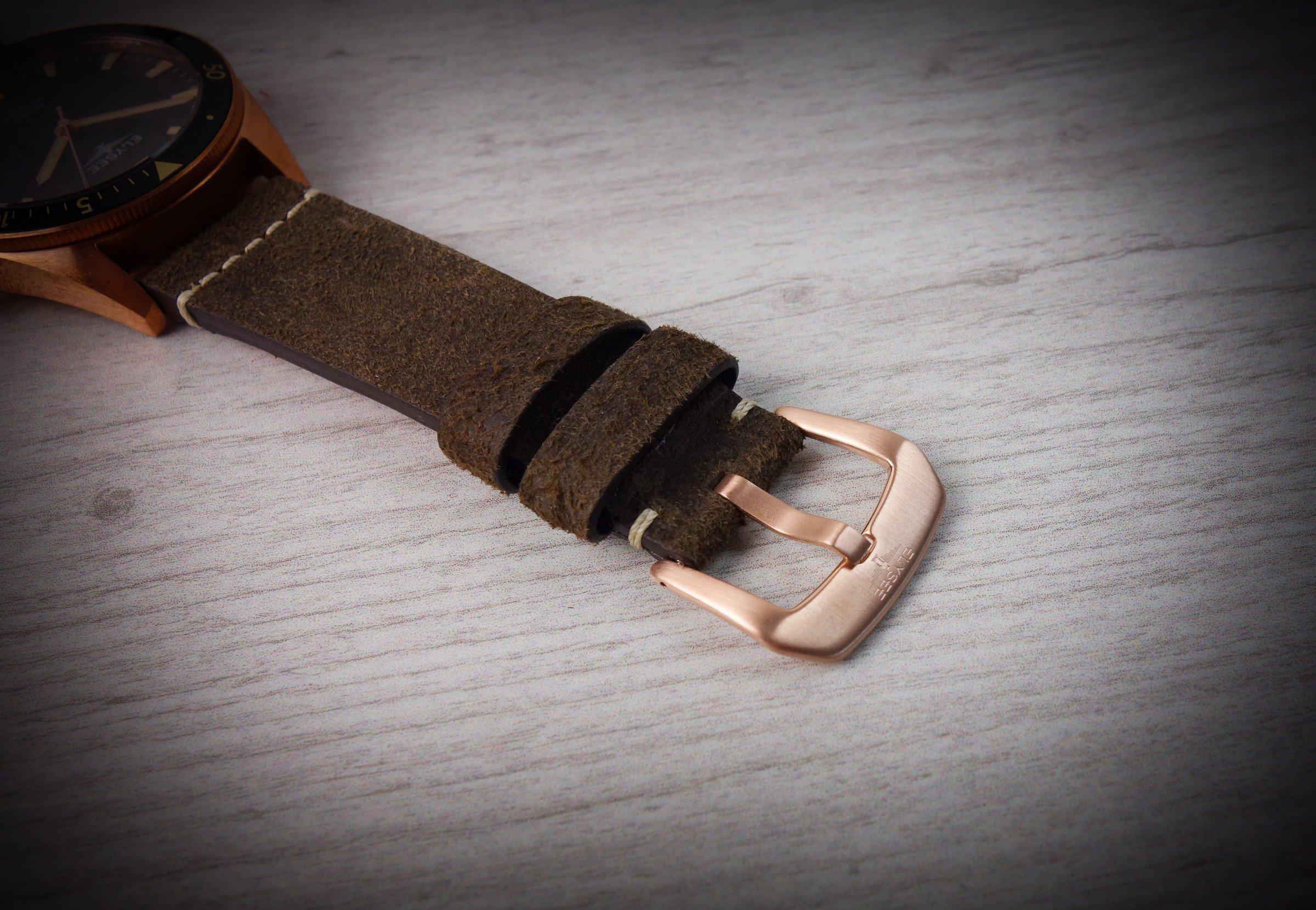 Elysee Wildleder-Band Uhr